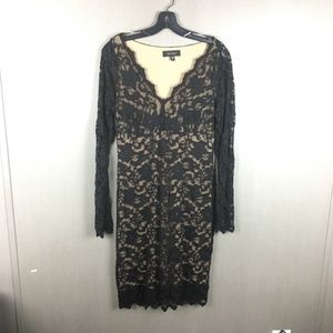 Karen Kane Lace Long Sleeve Dress Size Medium